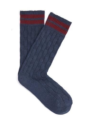 Mavi  Uzun Soket Çorap Mavi
